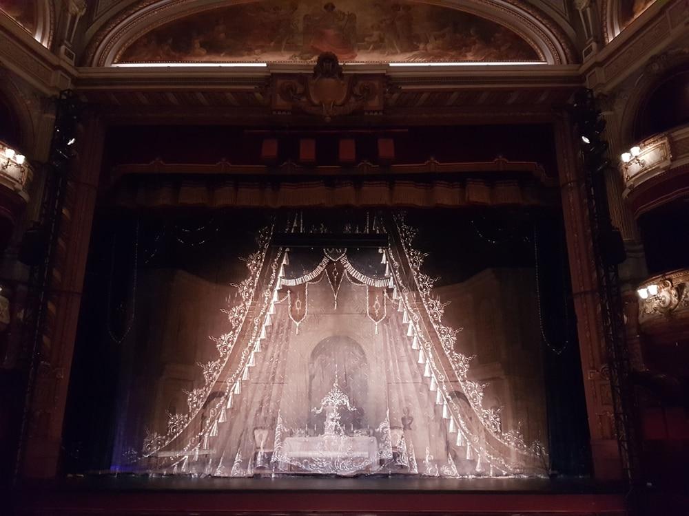 Art Noveau Curtain To Be Used For La Traviata Performance