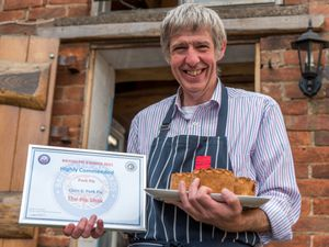 Simon Wilson of The Pie Shak in Abbots Bromley whose pork pies have been highly commended at the British Pie Awards.