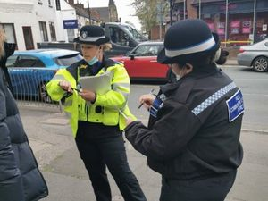 Officers in Sedgley handed out 30 dispersal notices over two days
