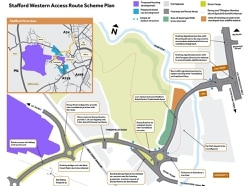 Two-year work begins on Stafford Western Access Route