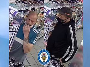 West Midlands Police have released images of the two men it wants to speak to (Image by West Midlands Police)