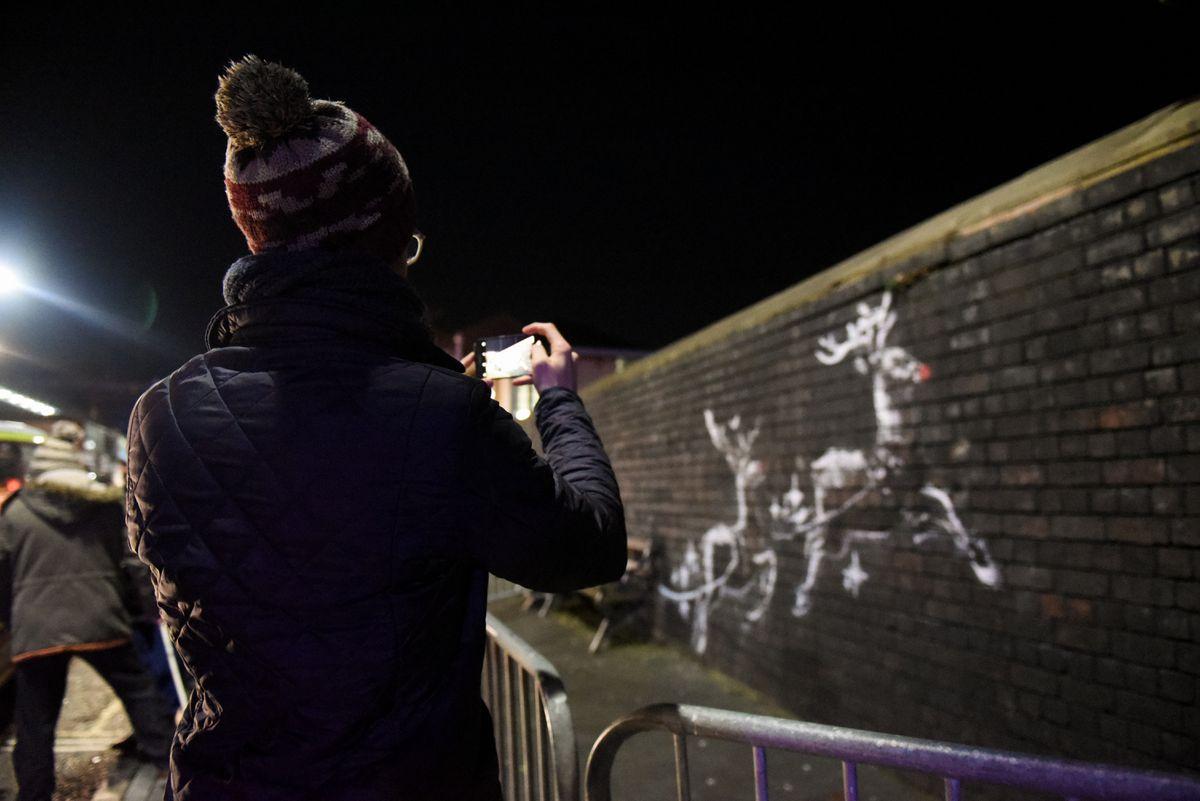 Banksy artwork in Birmingham. Pictures by: Anne-Marie Hayes
