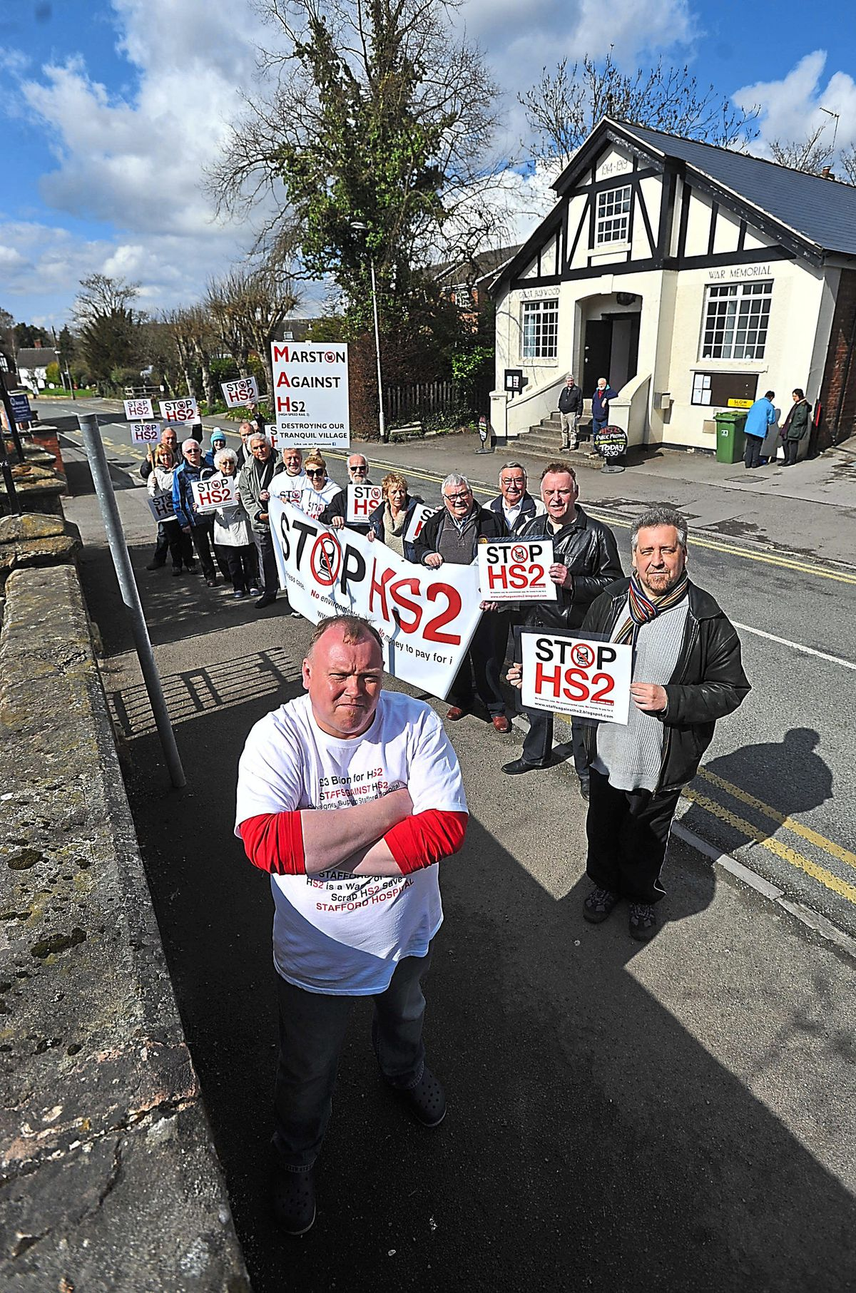 Villagers turn out in Great Haywood back in 2013