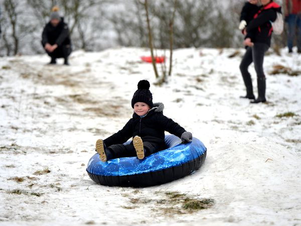 DUDLEY COPYRIGHT TIM STURGESS EXPRESS AND STAR...... 03/01/2021. Snow still covers the Sedley Beacon today making it ideal for sledging or just taking a walk..