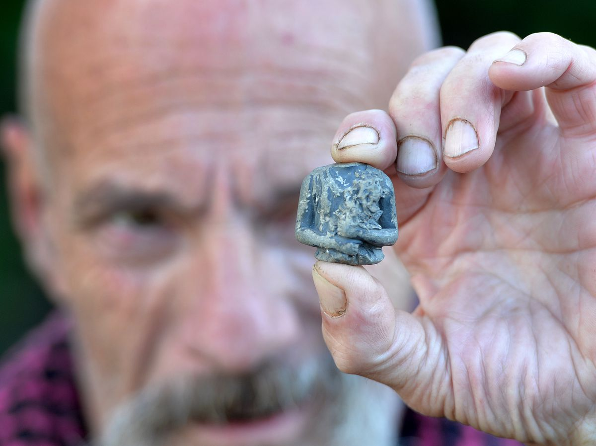 Andrew Priest, from Brierley Hill, says he has large remnants of what appears to be a meteorite in his back garden