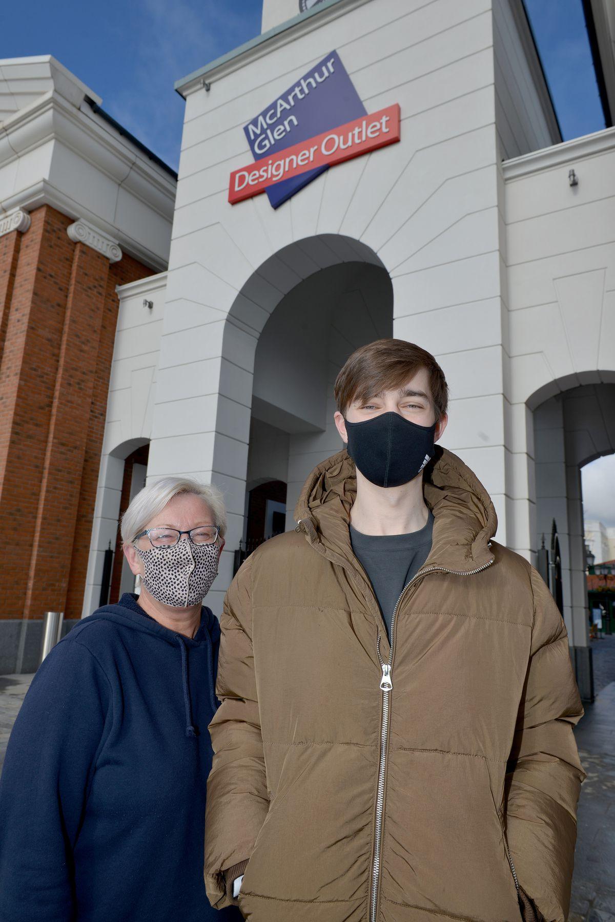 Joanne Williams and her son Sam Probert