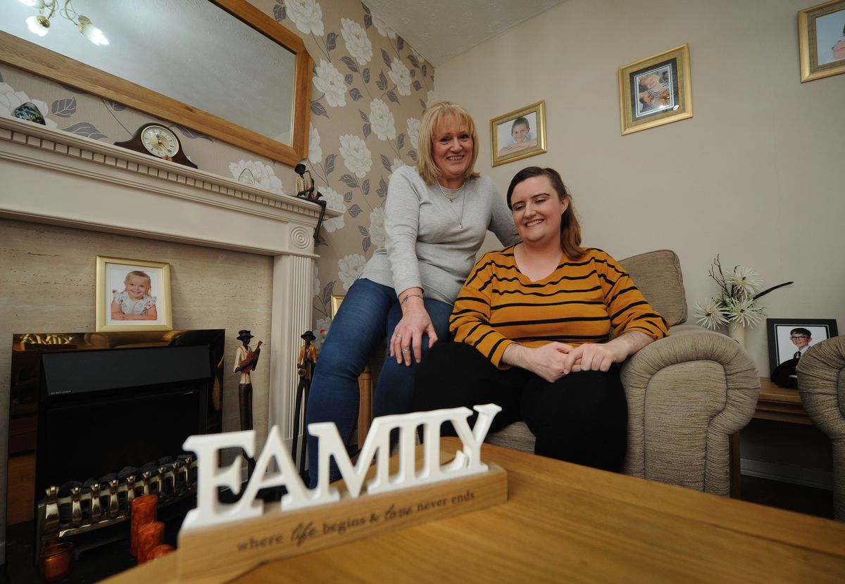 Resting at home are, left, Shared Lives carer Gina Homer, and Emma Cooper, both, of Wordsley, who moved into the house