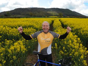 Hugh Porter at the foot of the Wrekin, getting ready to go 'Round the Wrekin' for Compton Care