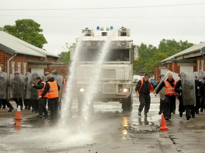Water cannon bought by Boris Johnson sold for fraction of cost