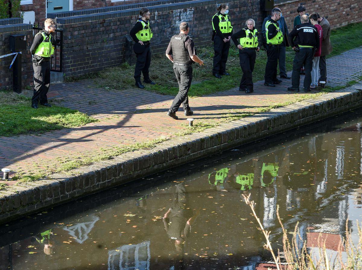 Police at the scene in Kings Norton. Photo: Snapper SK