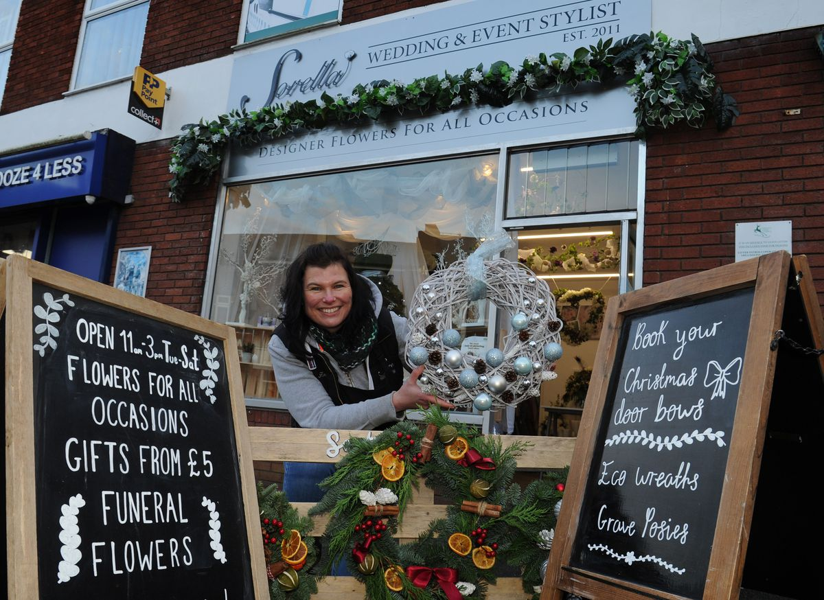 Sorella Florist & Event Stylist in Hednesford has adapted its services to prosper following lockdown. Pictured is co-owner Kerry Goodyear