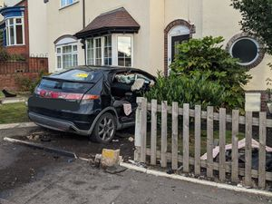Green Watch  from Haden Cross Fire Station cut a person out of the Honda Civic. Photo: West Midlands Fire Service
