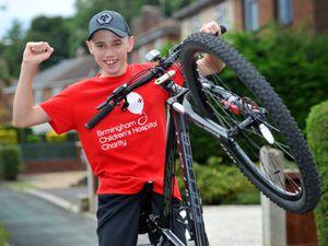 Louis Johnson from Tettenhall Wood, is doing a bike ride for Birmingham Children's Hospital.