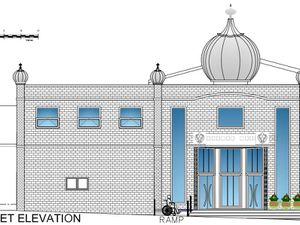 Proposed extension of Gurdwara Guru Hargobind Sahib temple on Britannia Street, Oldbury. Credit Sandwell Council