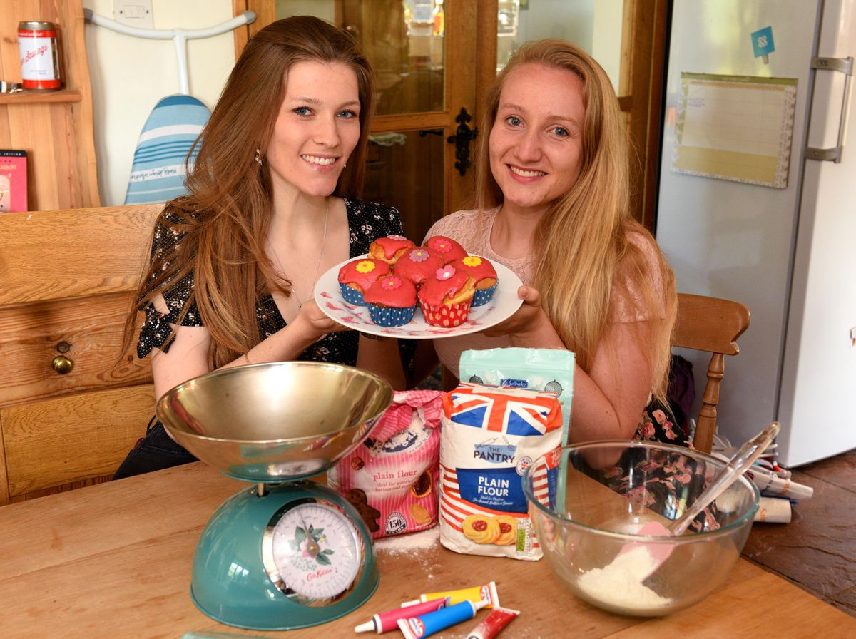 Grace Kendrick, right, with her sister, Lydia, who has joined her in the fundraiser