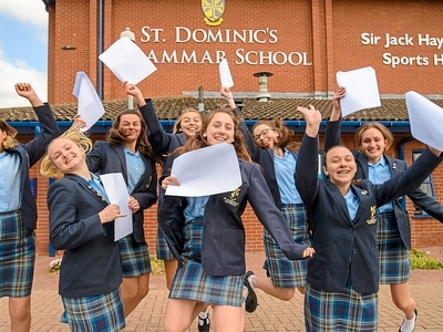 GCSE results: Youngsters find out fate under new grades - PICTURES