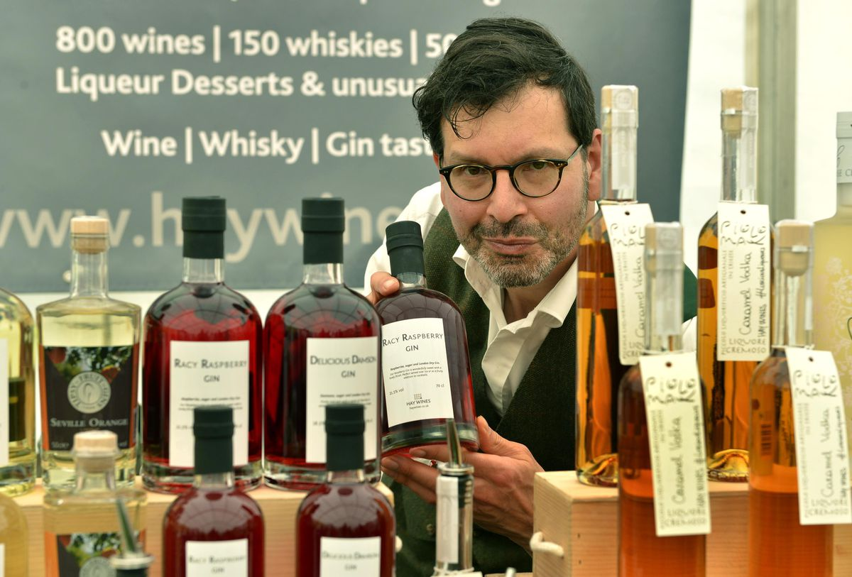 Andy Garbi from Hay Wines in Ledbury at the Great British Food Festival at Weston Park