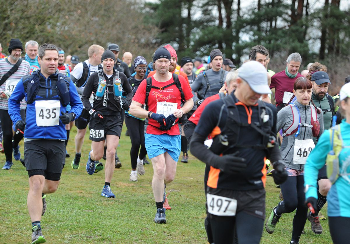 Taking part in the Cannock Chase Trig Point Race, at Milford Common, Stafford