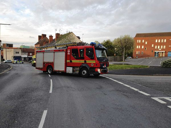 The scene of the crash. Photo: Dudley Fire Station