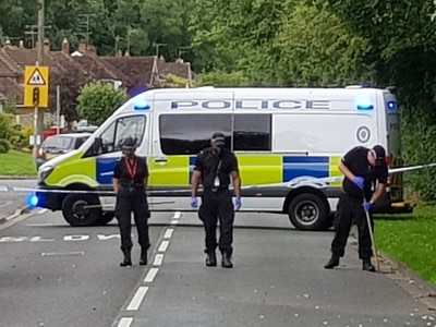 Wolverhampton road cordoned off as gun fired at house