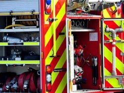 Firefighters at derelict factory fire in West Bromwich
