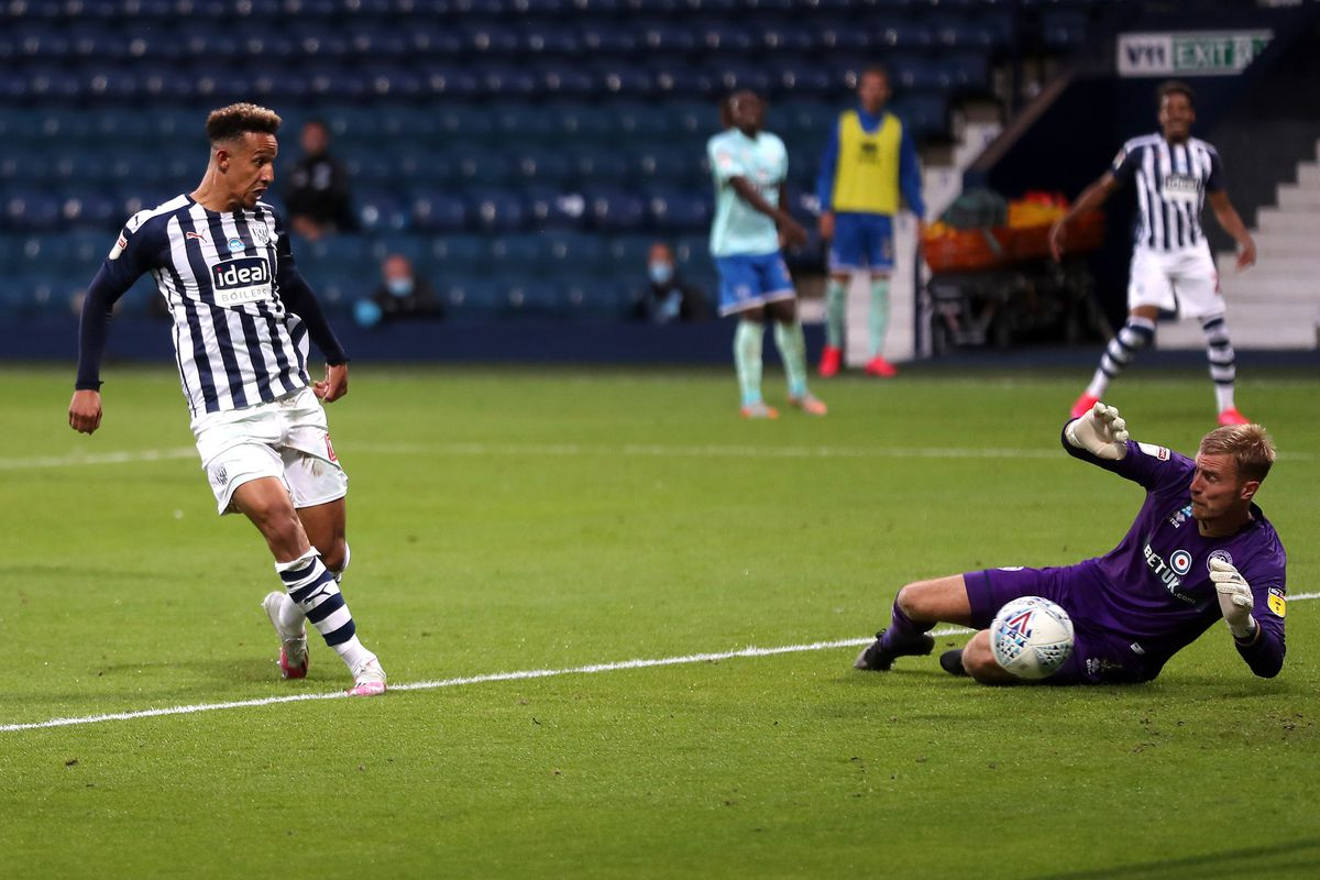 Callum Robinson of West Bromwich Albion scores a goal to make it 2-1. (AMA)