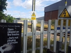 Police warning after four children have near miss with fast train in Stafford