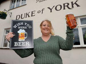 Leanne Giblin at the Duke of York pub, Lichfield
