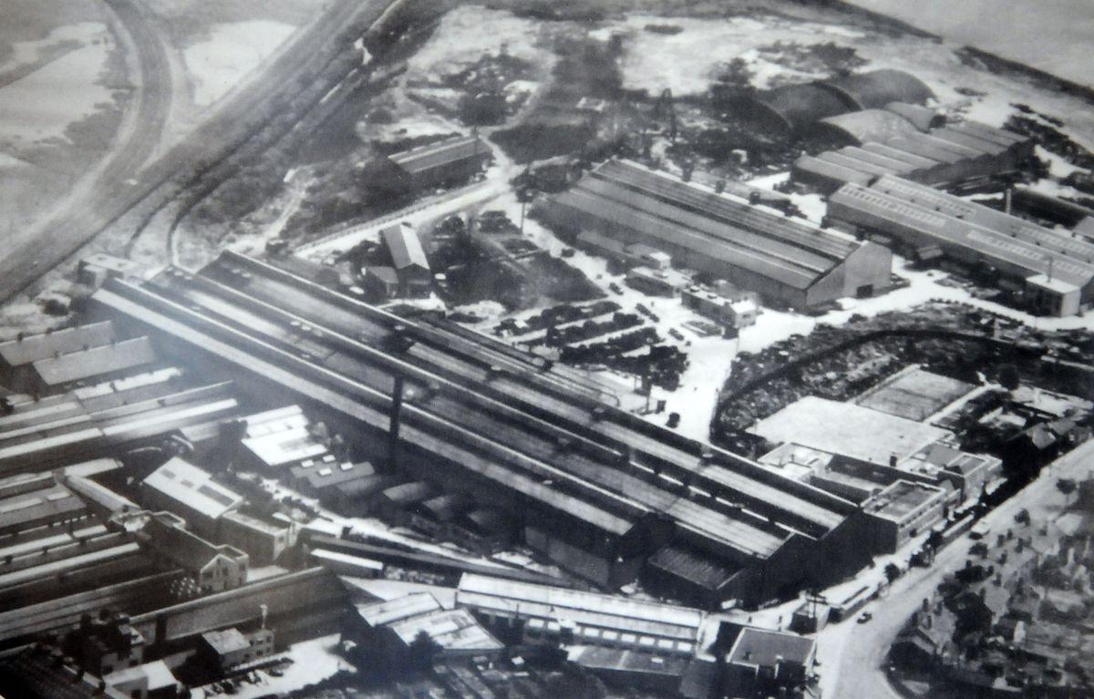 The F H Lloyd steel works at Wednesbury