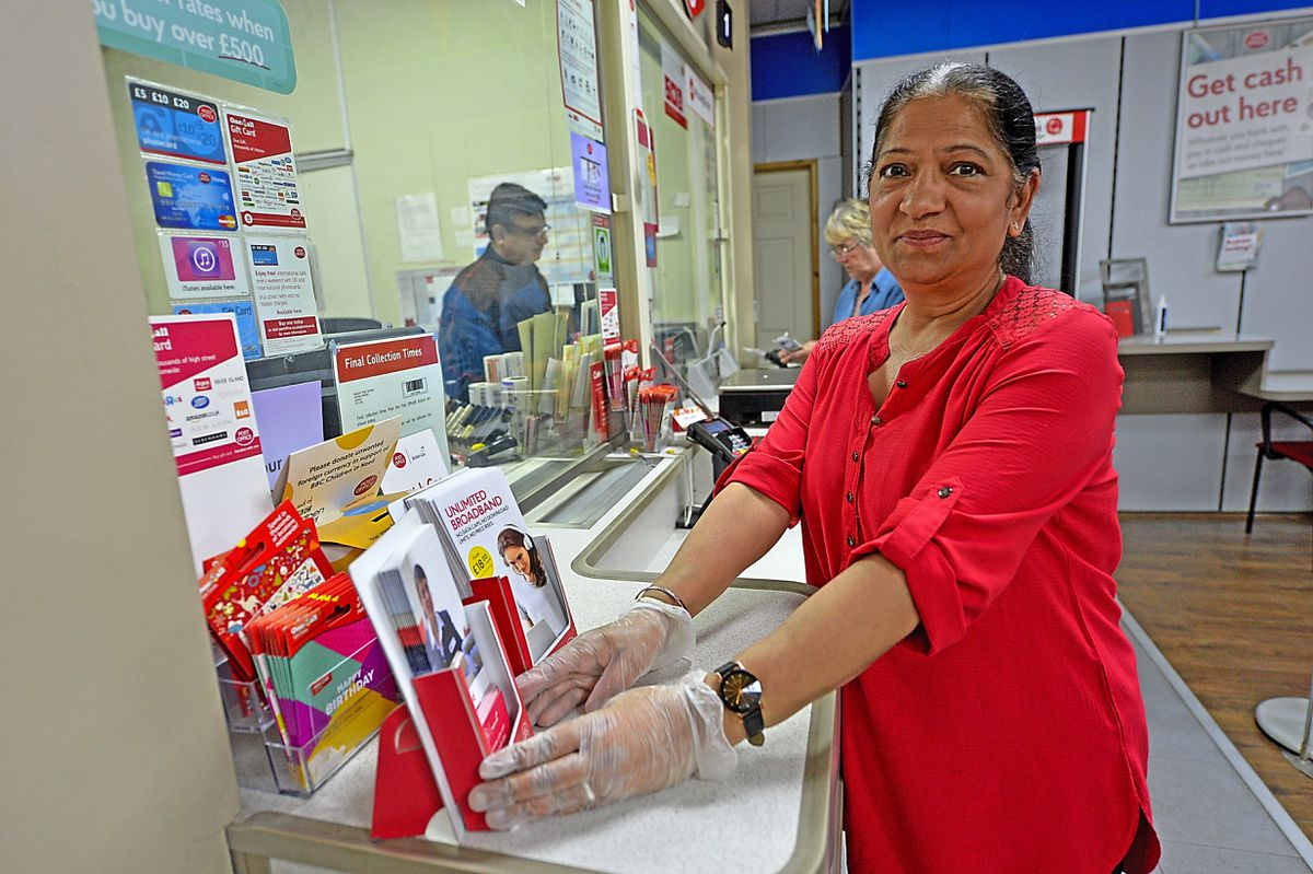 Manager Surinder Kaur at Post Office