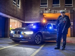 On drink drive patrol in an unmarked police car