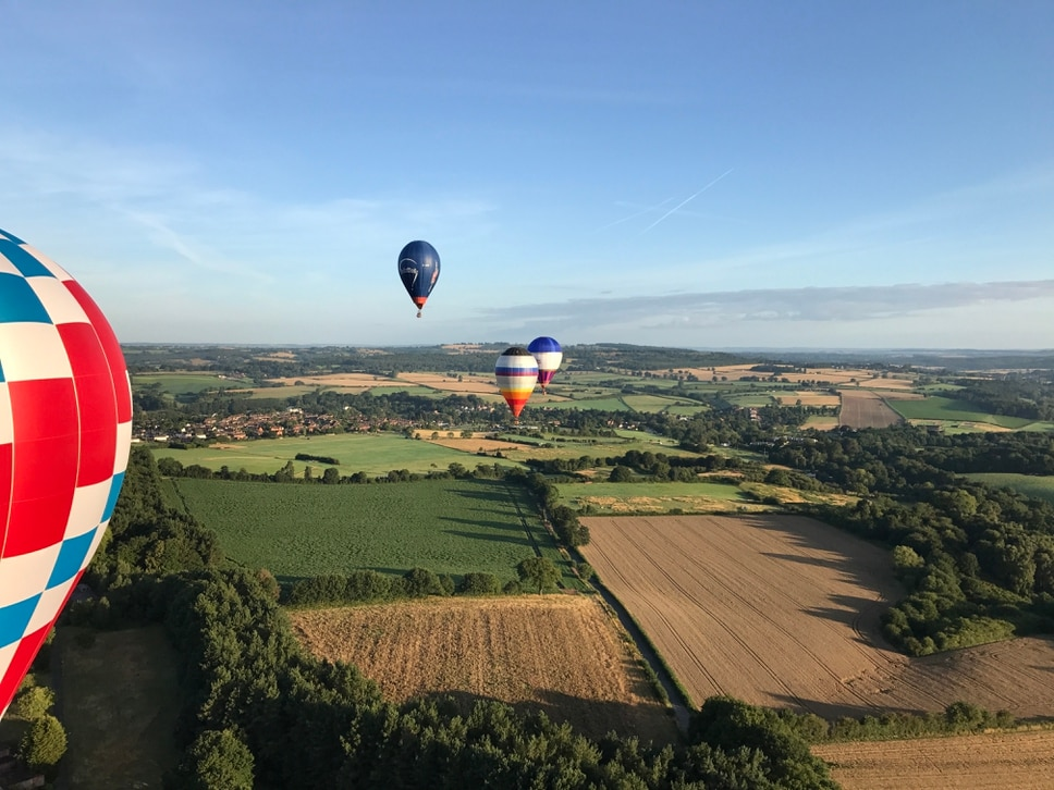 Joining the UK's hot air-ballooning champion for a flight above the Wyre Forest