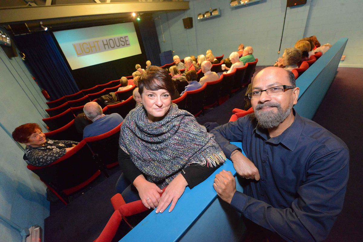 CEO Kelly Jeffs and Jas Kapur, cinema operations manager, at Light House