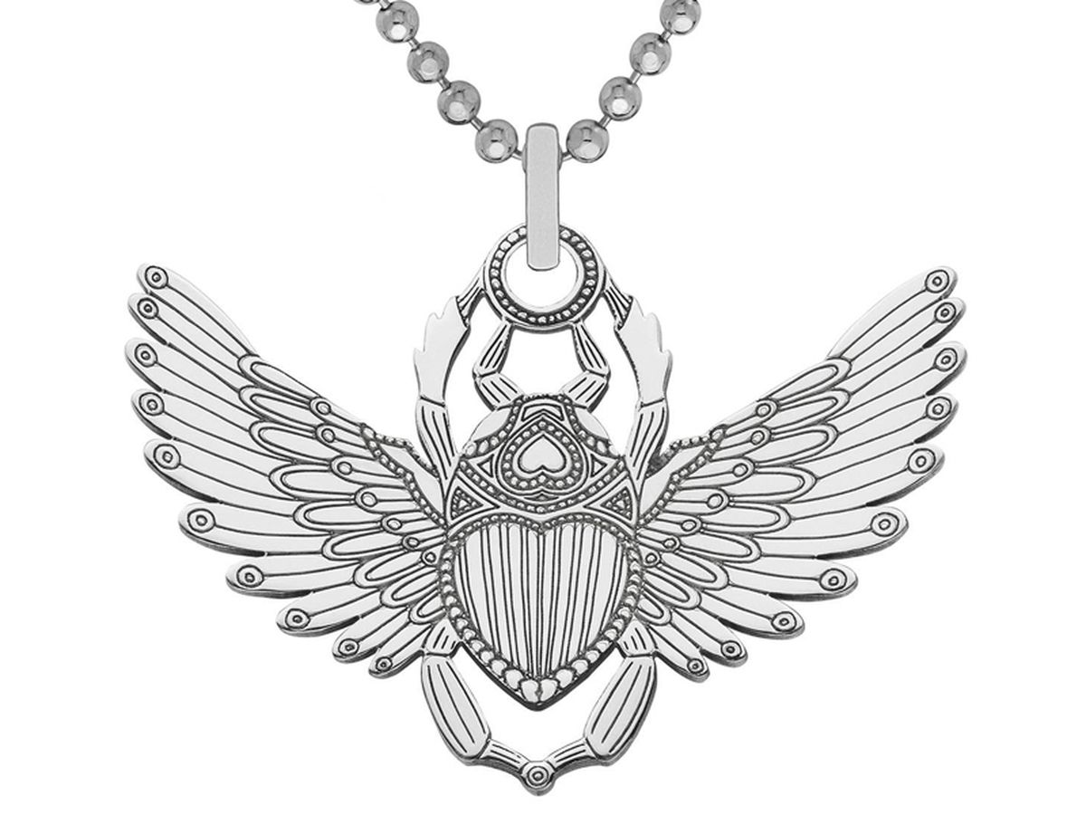 Cartergore Scarab Beetle pendant and chain