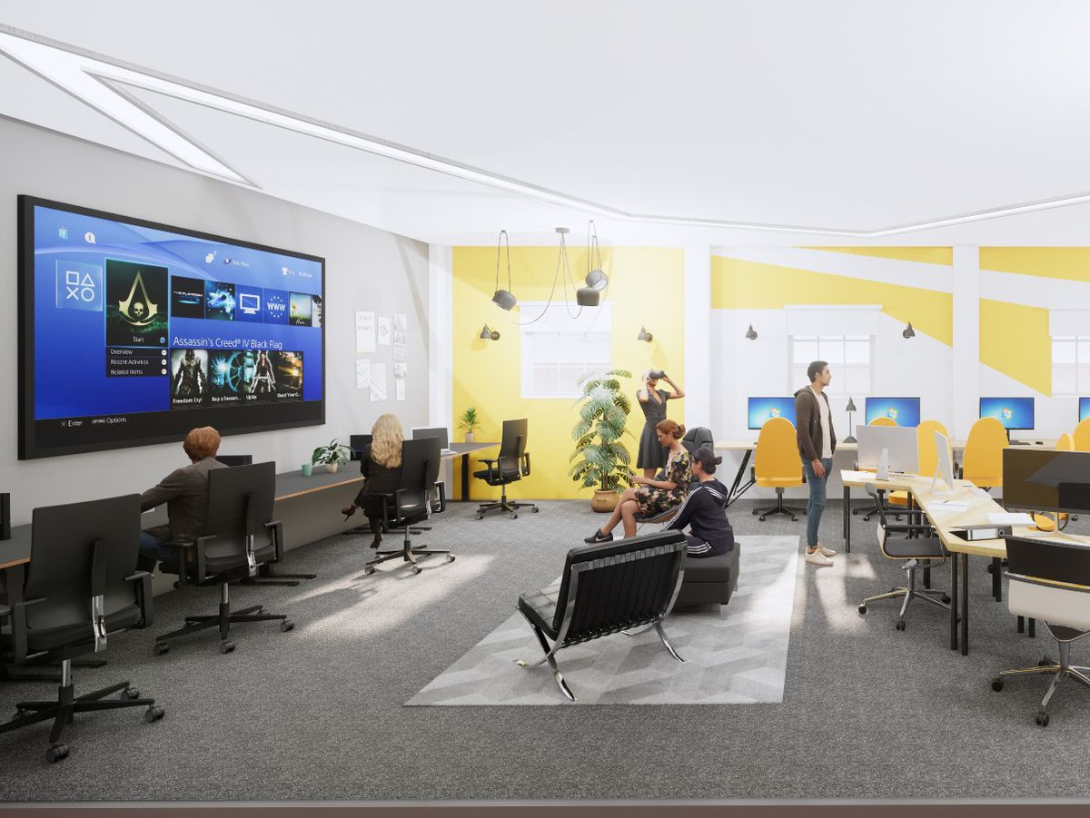 The university's Screen School will a create a 'production house' environment to enable students to work with peers on joint projects and develop a diverse talent