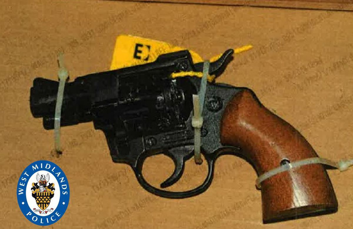 The gun recovered by officers at an address in Wolverhampton