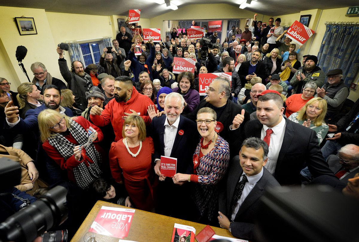 The pensioners club was packed for Mr Corbyn's visit