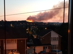 Flames light up skyline as fire breaks out on Hednesford Hills