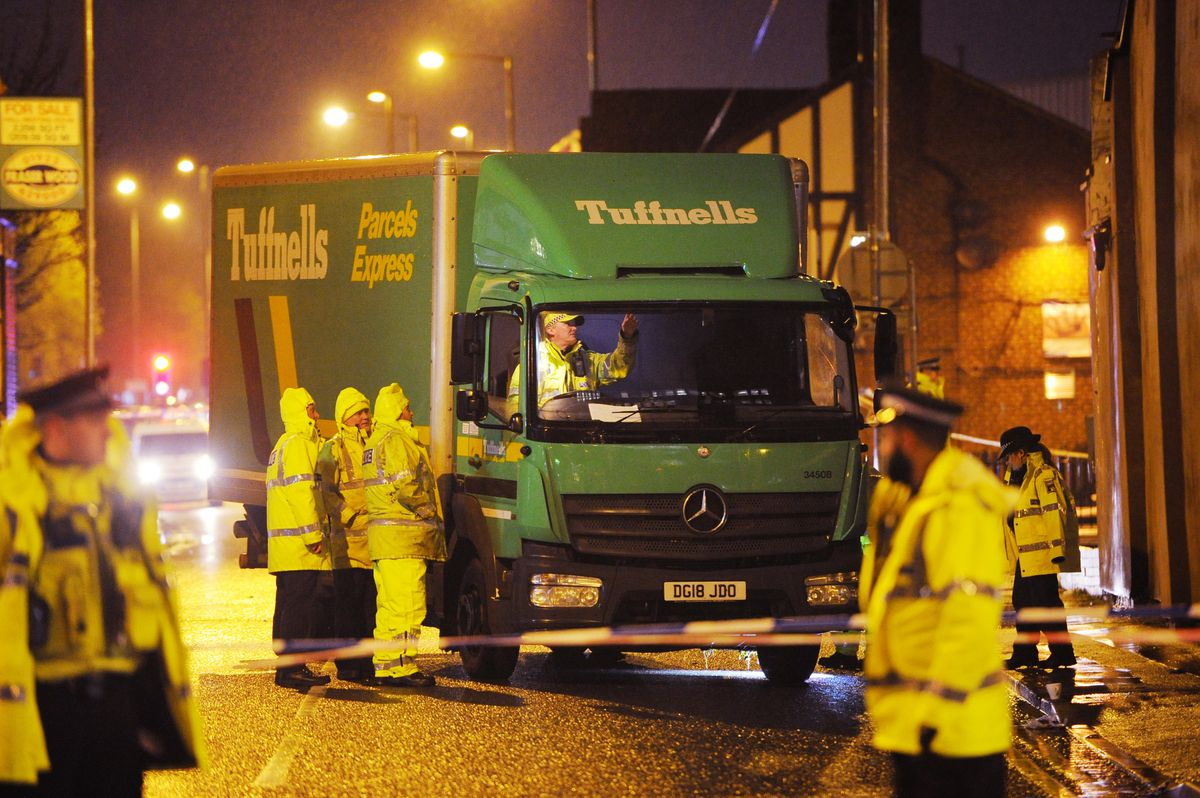 A police investigation is under way into the collision