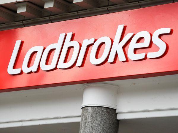 A Ladbrokes shop sign