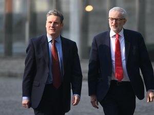 Sir Keir Starmer (left) and Jeremy Corbyn during a visit to Brussels (Stefan Rousseau/PA)