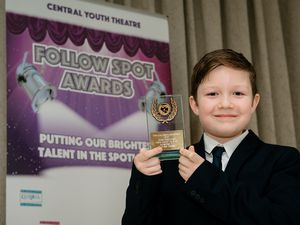 Central Youth Theatre Awards night at Ramada by Wyndham Park Hall Wolverhampton.The Joe Hancock Award for Most Improved Male Junior awarded to Oliver Green, 9.