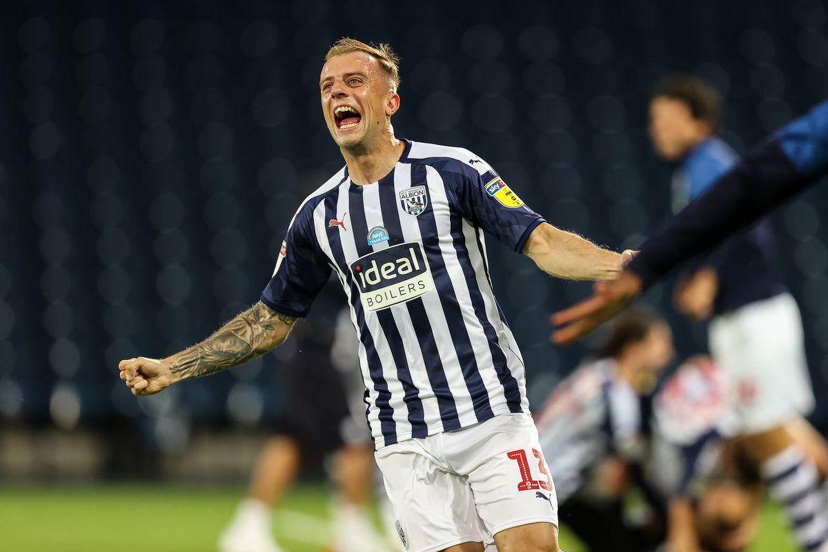 Kamil Grosicki of West Bromwich Albion celebrates promotion. (AMA)