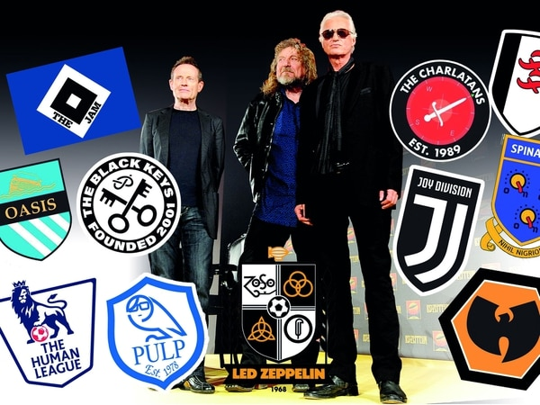 Bands FC: The Charlatans' Tim Burgess and graphic designer Mark Liptrott combine football and music with unique logos