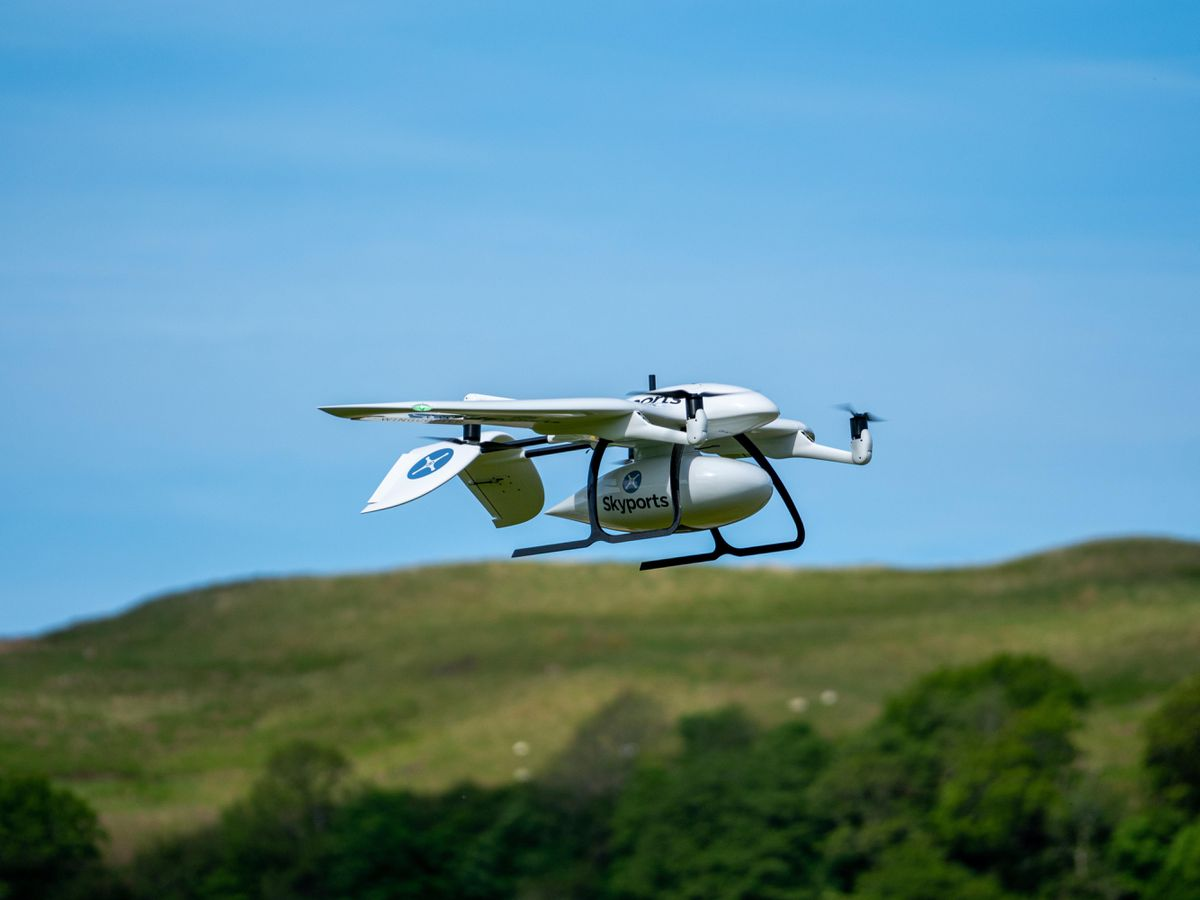 Skyports drone delivery