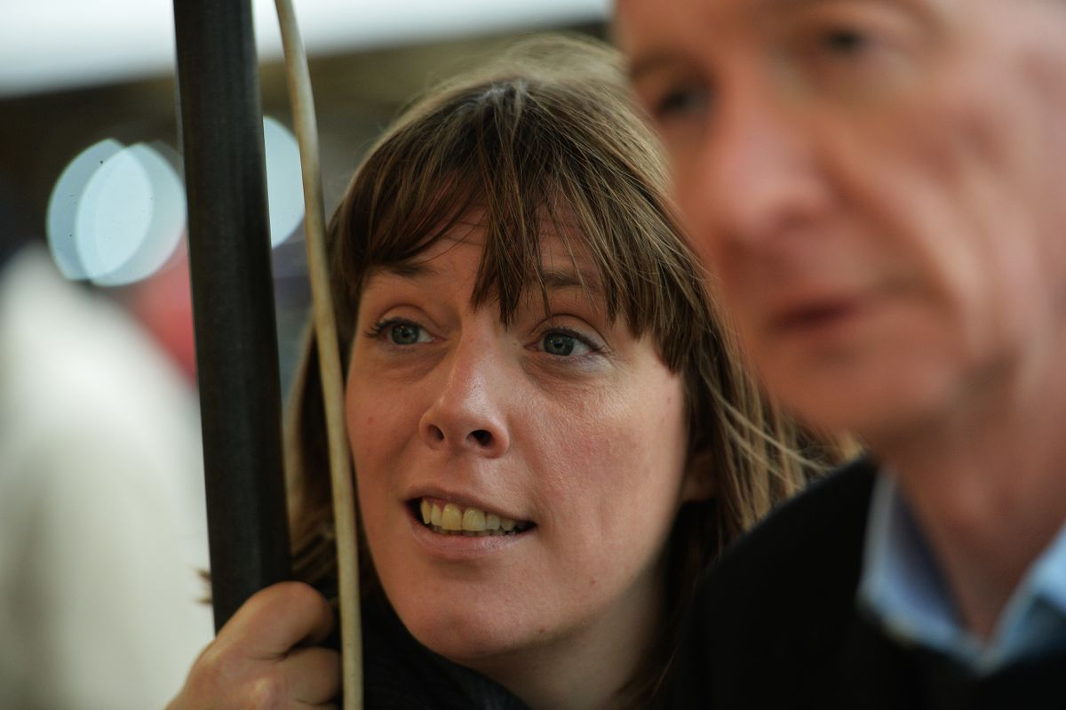 Labour leadership candidate Jess Phillips visiting Bilston with Pat McFadden