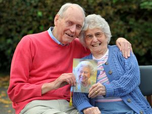 .Brian Bromley and Sheila Bromley celebrate their 60th wedding anniversary with a card from The Queen.