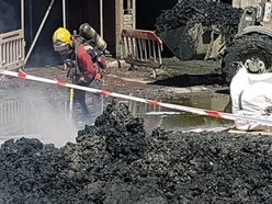 20 firefighters deal with skip blaze at Wednesbury waste centre