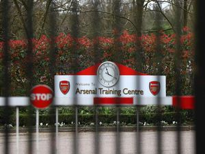 Arsenal's training ground was shut