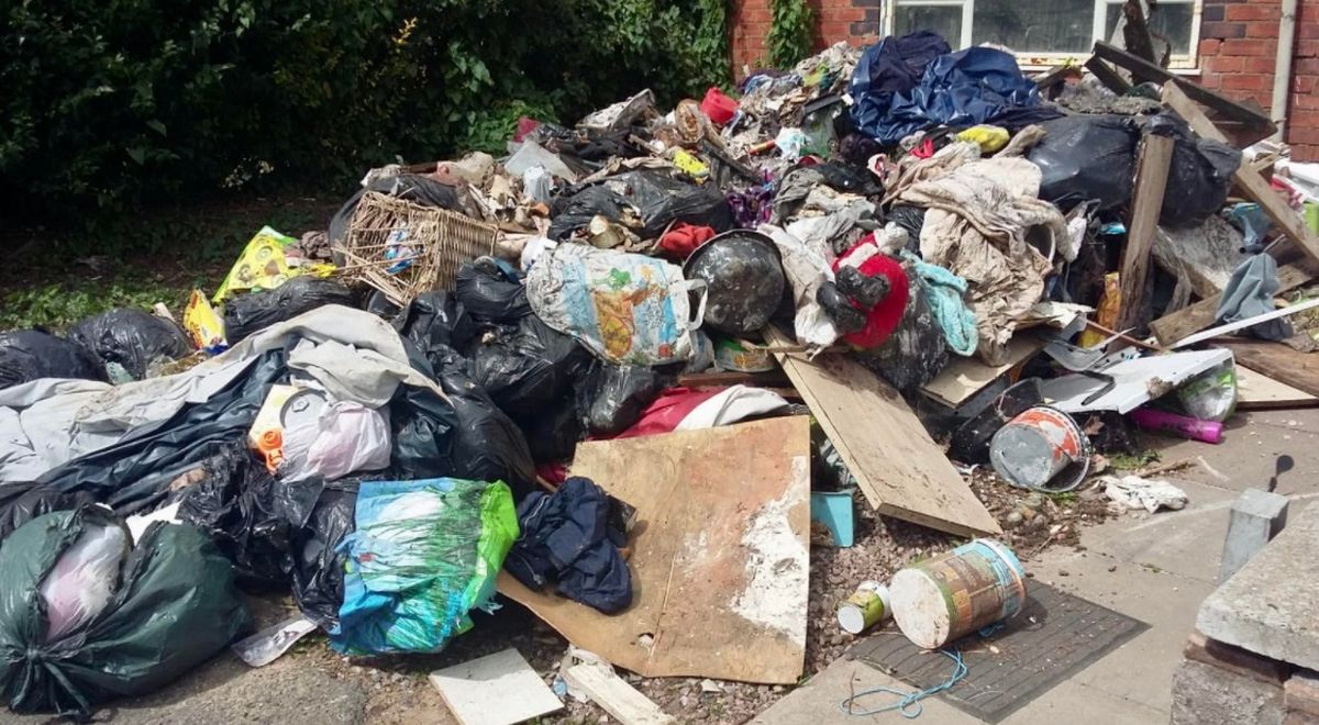 A huge pile of rubbish was dumped outside a house in Chantry Avenue in Blakenall. PIC: Walsall Labour